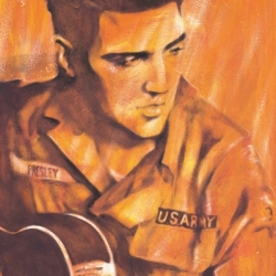 Elvis US Army print